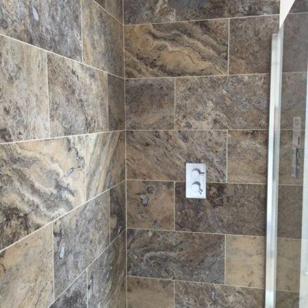 built in power shower