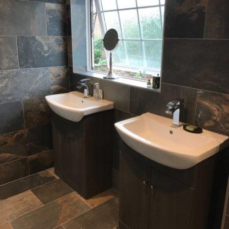 dual sinks new shower room