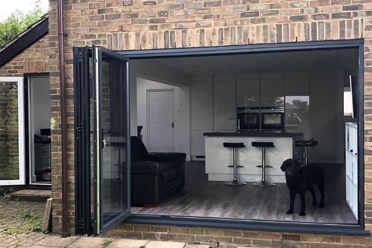 kitchen extension in Tunbridge Wells with bi fold doors